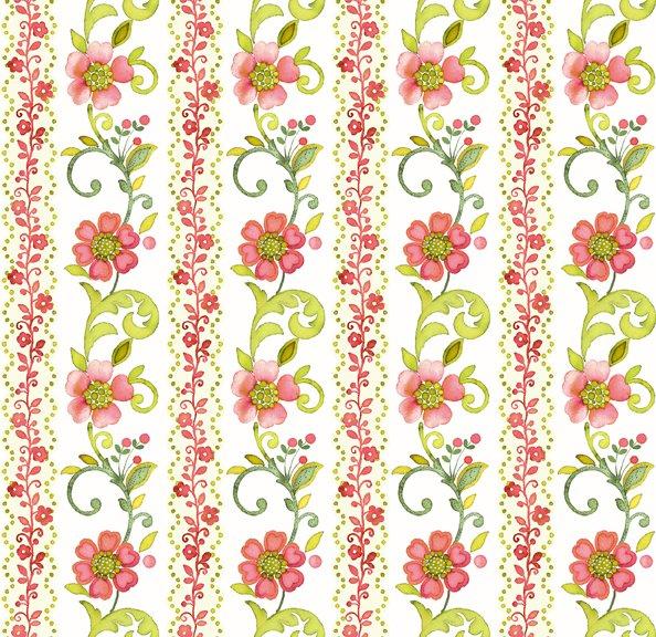 Marianna Floral Stripe Pink