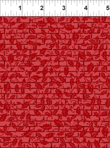 Winter Twist Tonal Grid Red