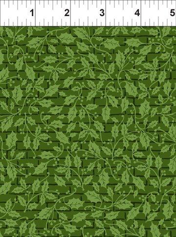 Winter Twist Tonal Grid Green