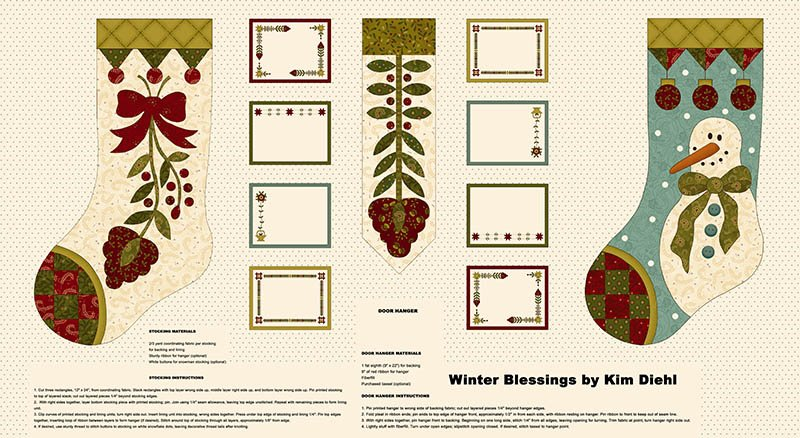 Kim Diehl Winter Blessings Stocking Panel