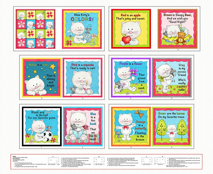Miss Kitty's Colors Book Panel