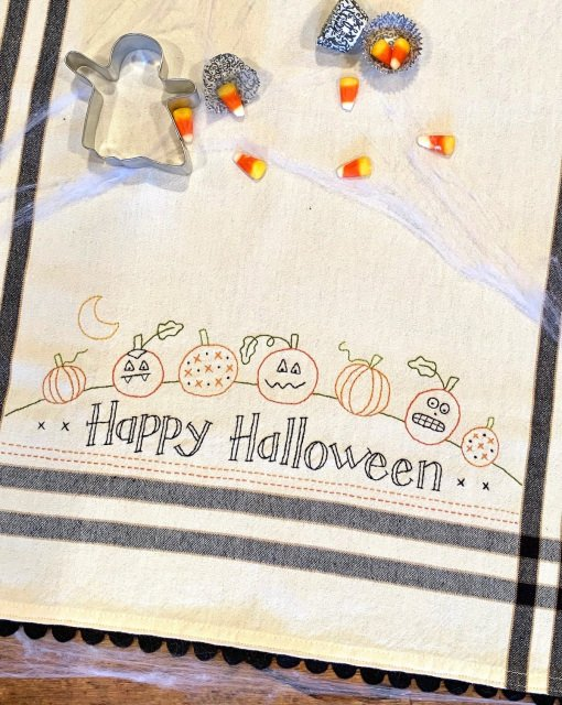 Happy Halloween Dishtowel Pattern and Kit