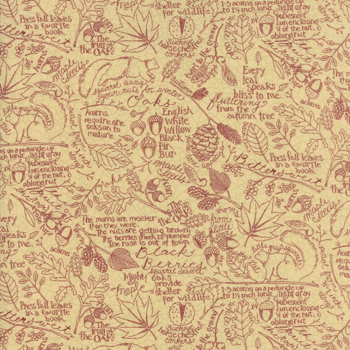 Oak Grove Lane Ivory Cranberry outline