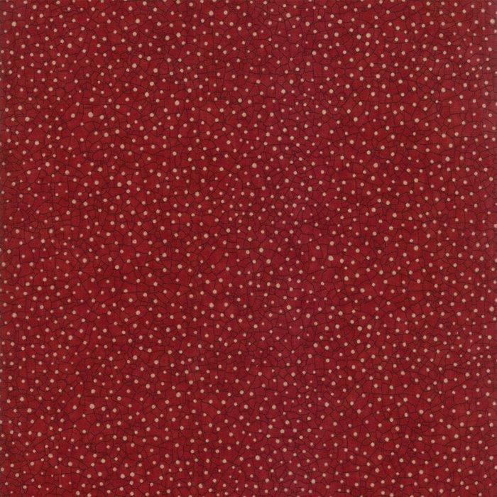 Oak Grove Lane cranberry crackle dot