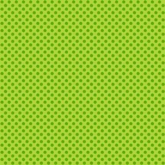 Novelty Christmas Bright Green Polka Dot