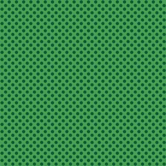 Novelty Christmas Green Polka Dot