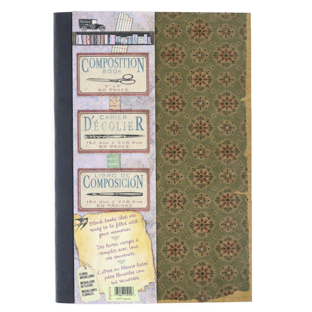 Composition Book-Floral Medallions 6x9