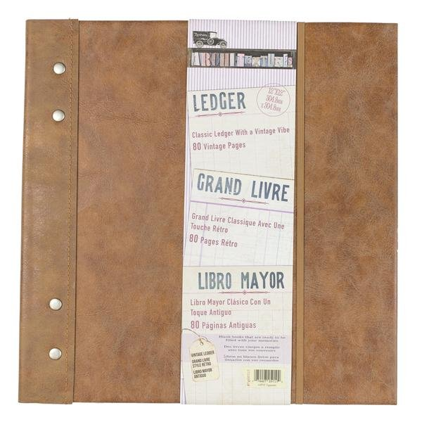 Ledger Notebook - Vintage Ledge 12x12