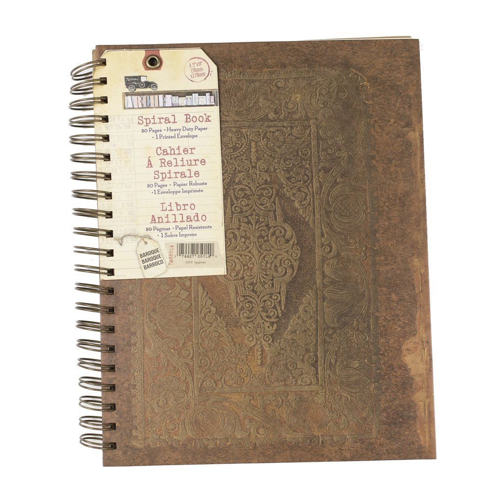 Sprial Notebook-8.5x11 Baroque