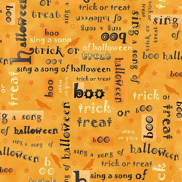 not so spooky orange halloween words