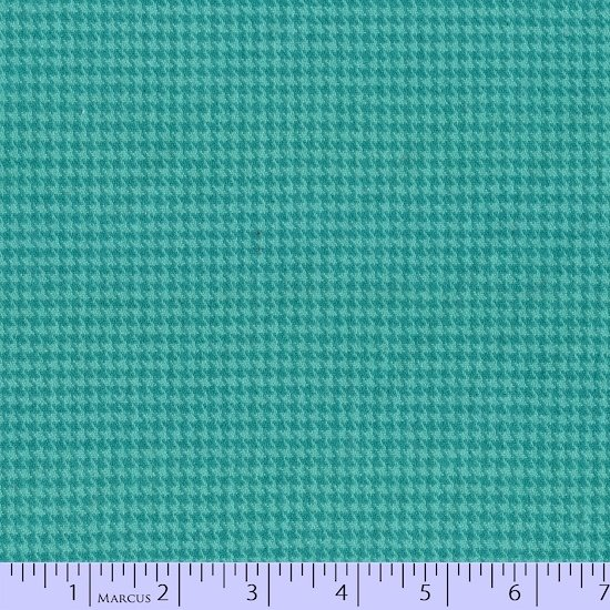 Color Crush Teal Houndstooth Flannel