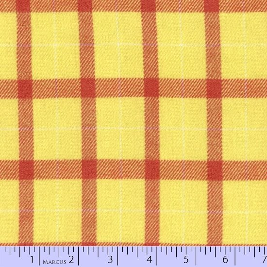 Color Crush Yellow and Orange Plaid Flannel