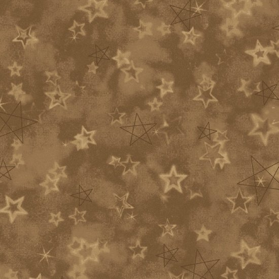 Songbook Tan Star Print