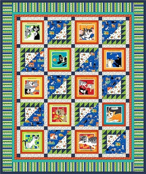 A Cat Tale FREE Book Panel Quilt pattern