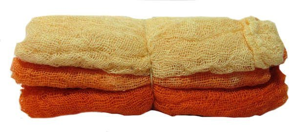 Hand-Dyed Cheesecloth Gradation Color Amber