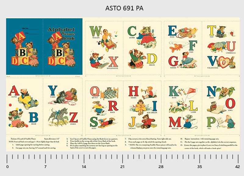 Alphabet Story book panel