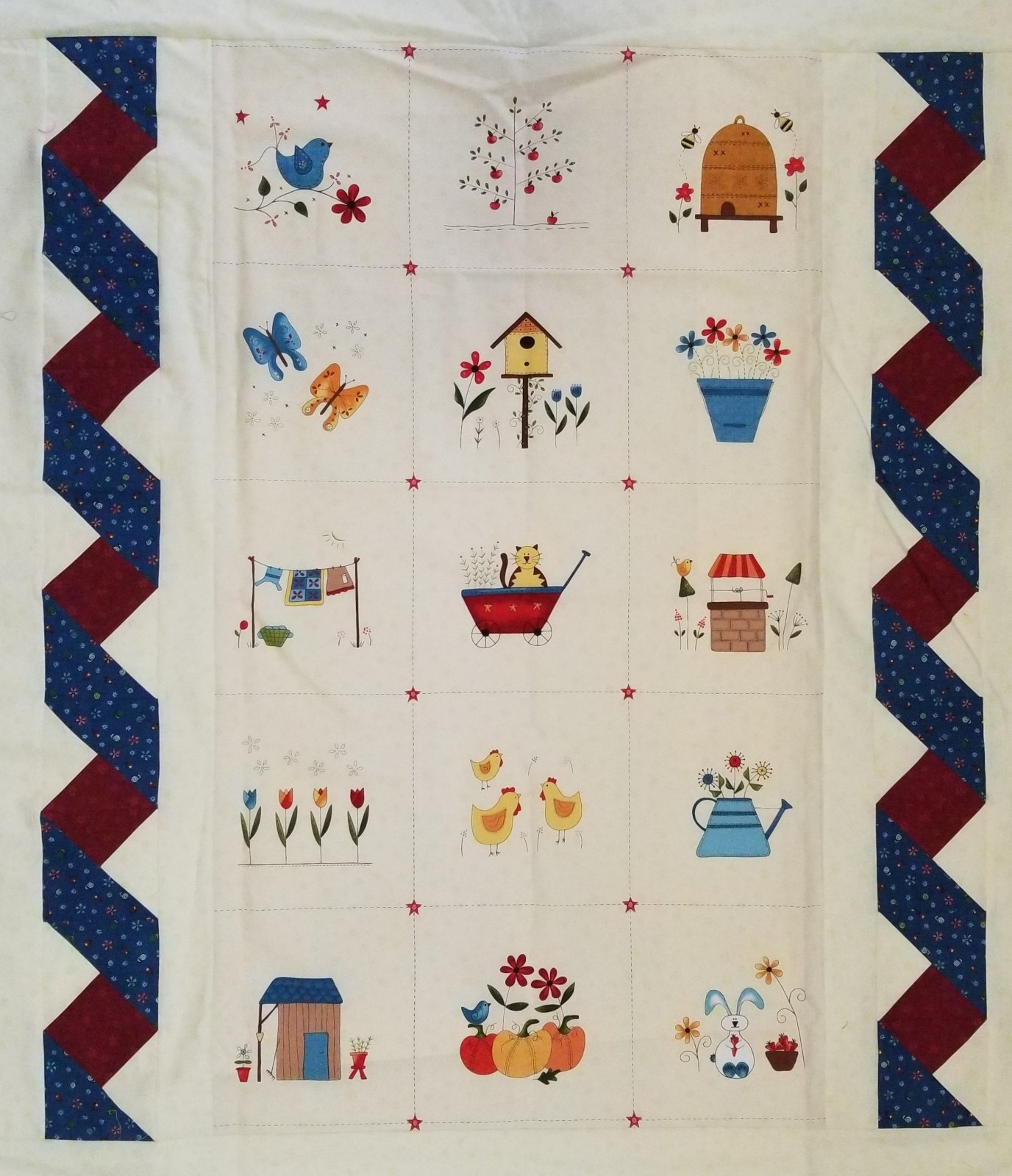 Backyard Happenings Twisted Panel Quilt Kit