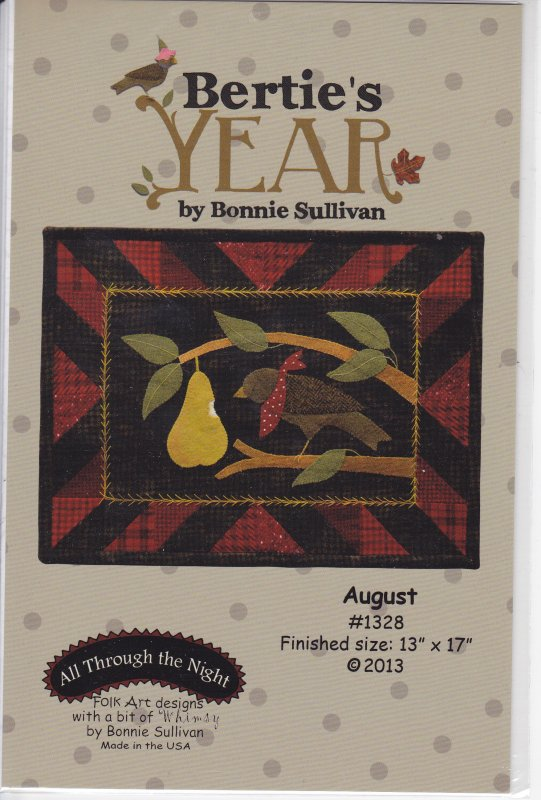 Bertie's Year August