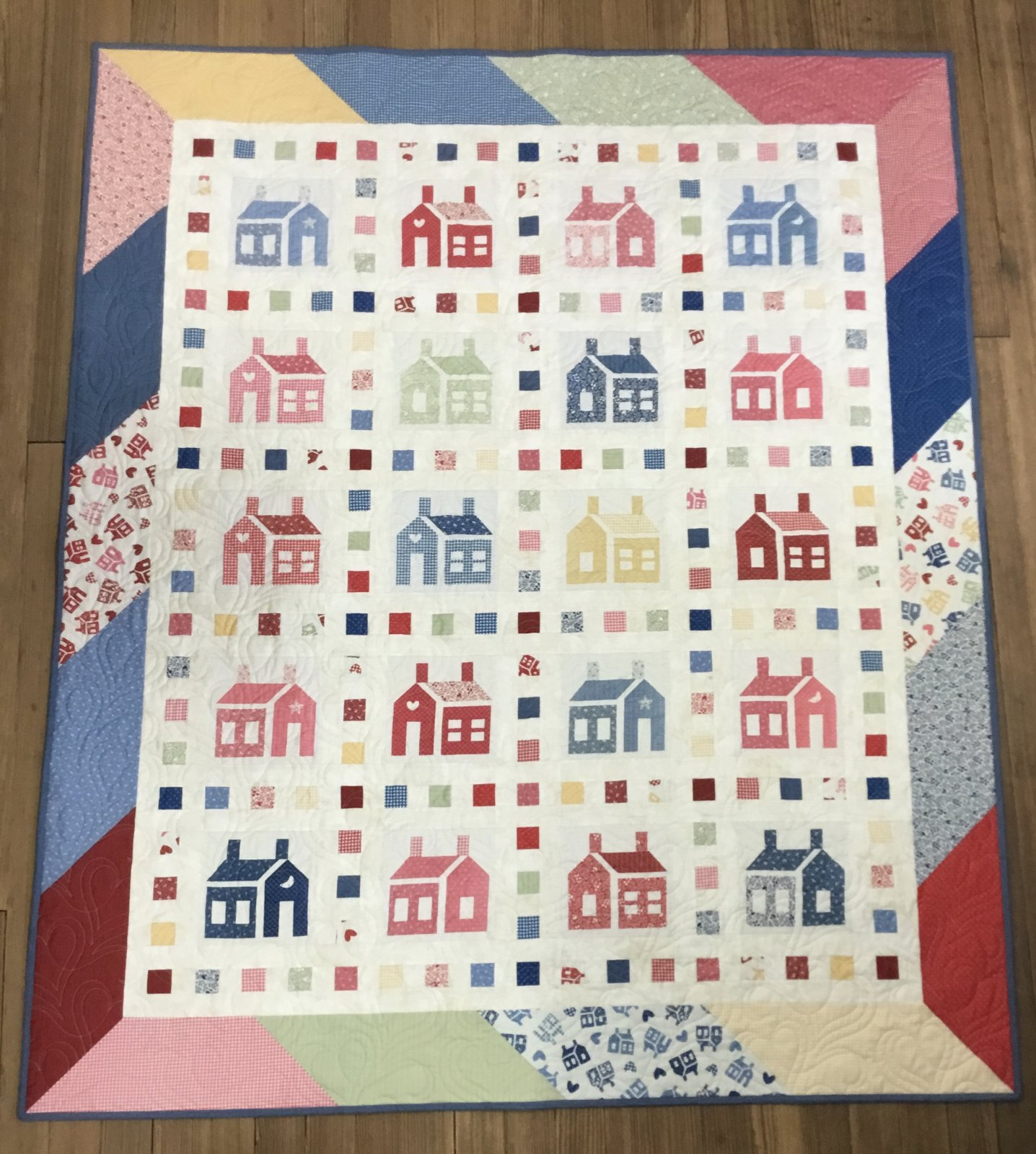 One-Room Schoolhouse Slide Show Lap Quilt Kit