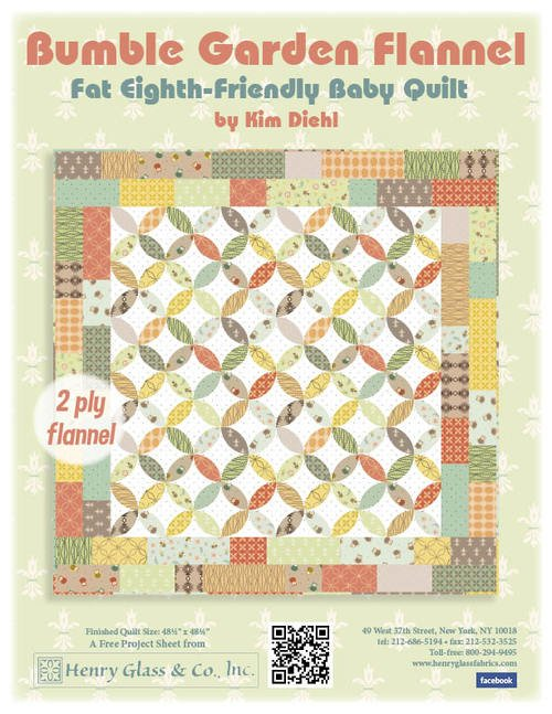 Bumble Garden Flannel Baby Quilt Fabric Kit
