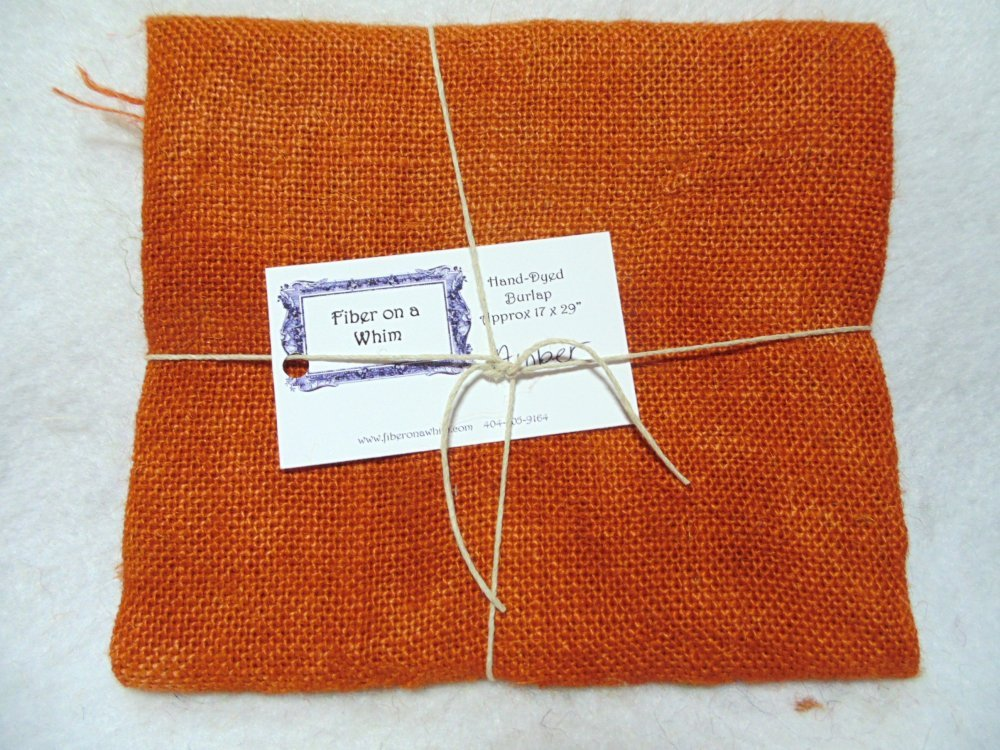 Hand Dyed burlap color Amber
