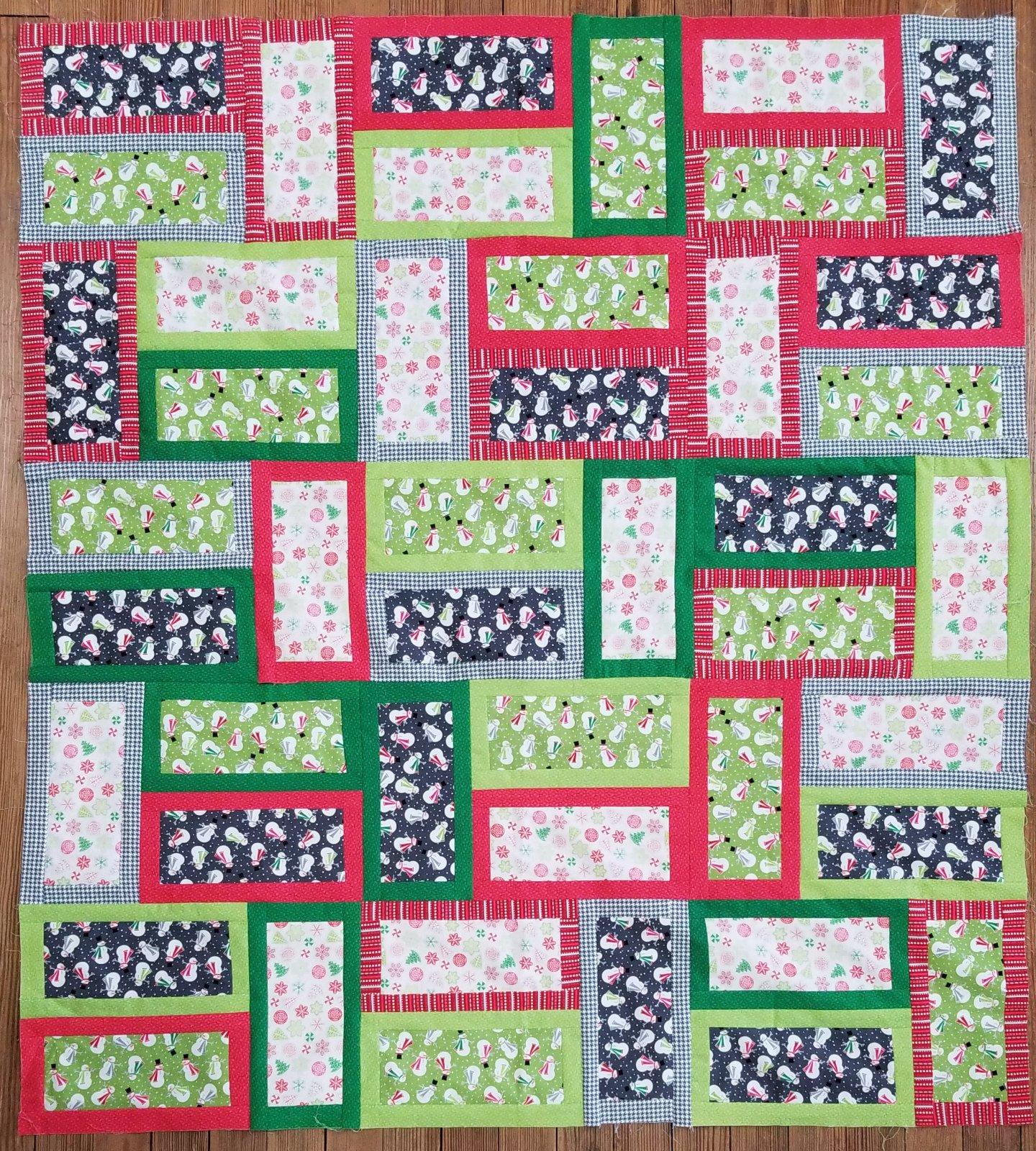 Christmas Bricks Fabric Kit
