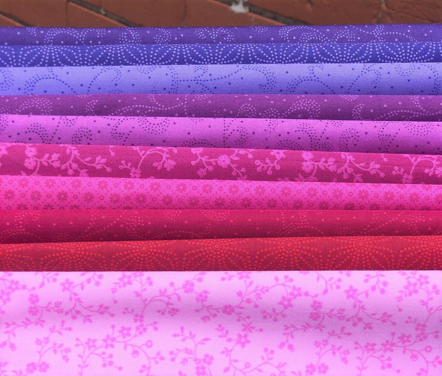 Color Theory Cotton Candy Fat Quarter Bundle (10)