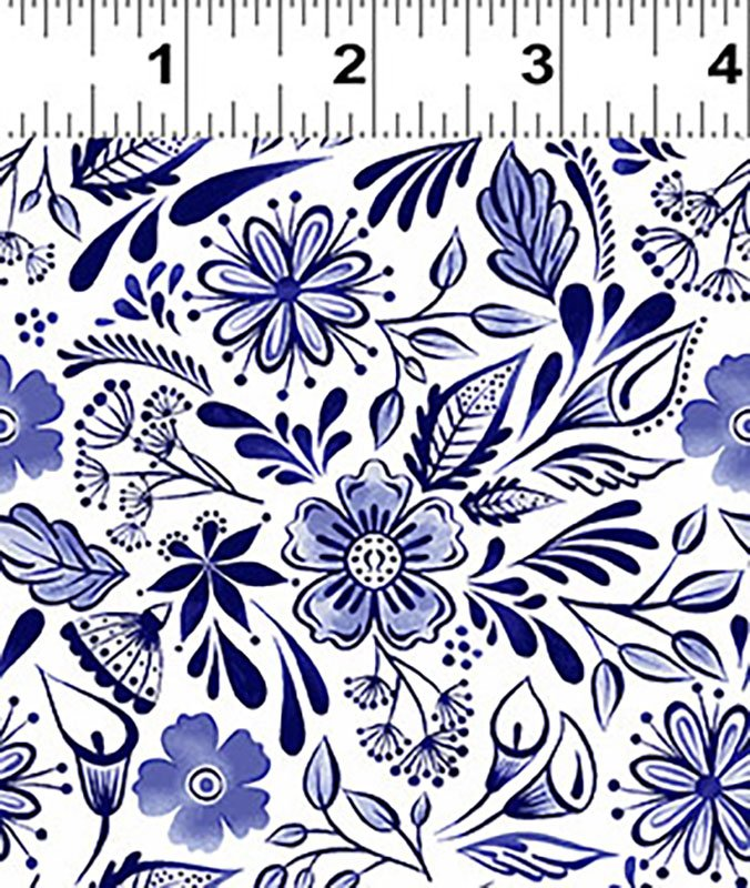 Colorido Mexican Tile Melissa Lowry Navy Blue