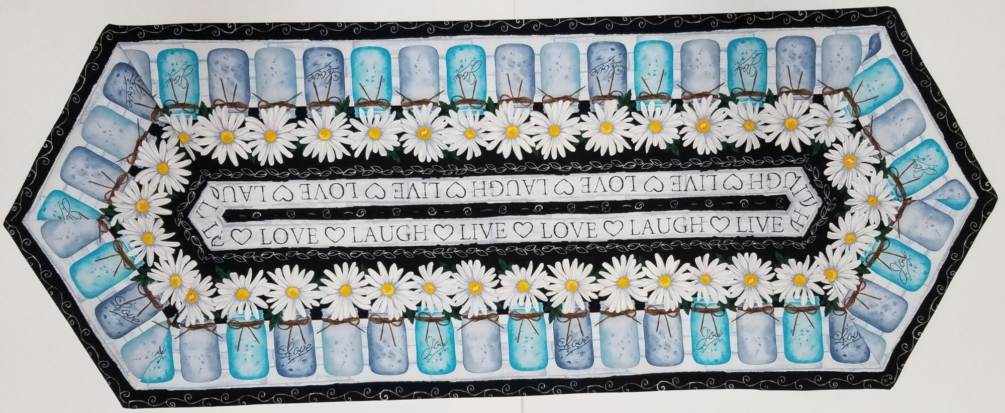 Easy Striped Daisy Table Runner KIt