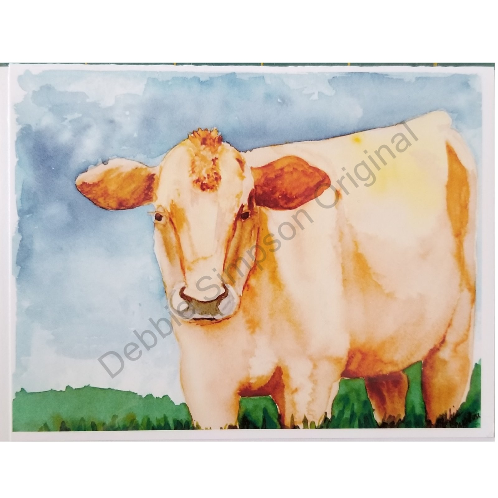 Cream Cow Card