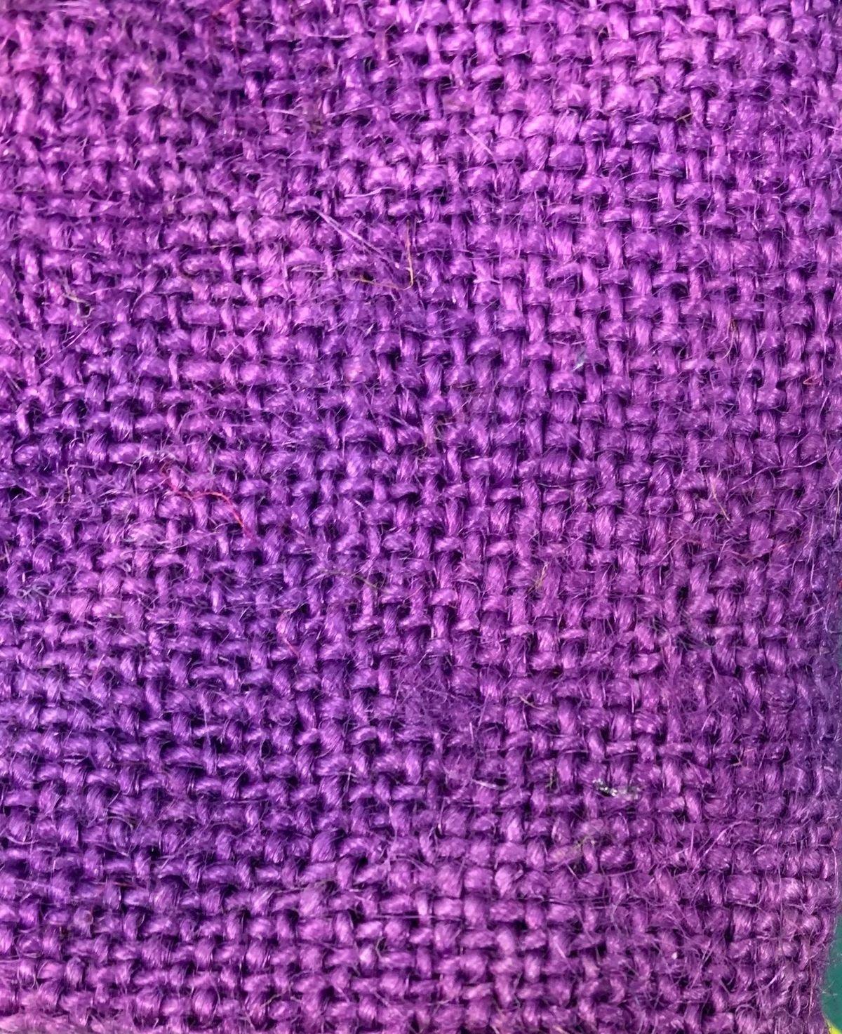 Hand Dyed burlap color Violets