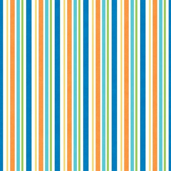 Blue Multi Stripe Flannel