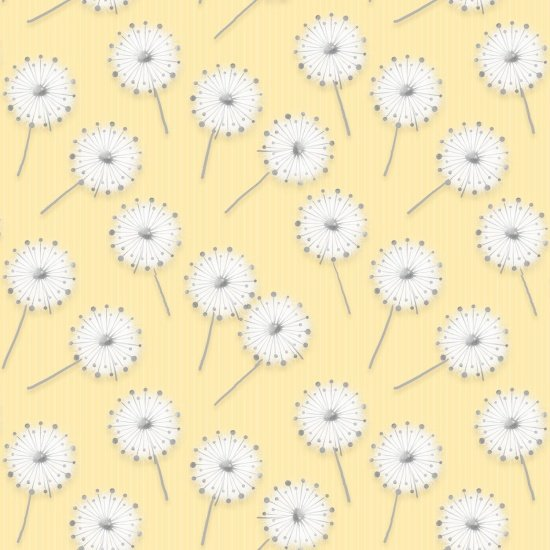 Yellow Dandelions Flannel Receiving Blanket Fabric Kit