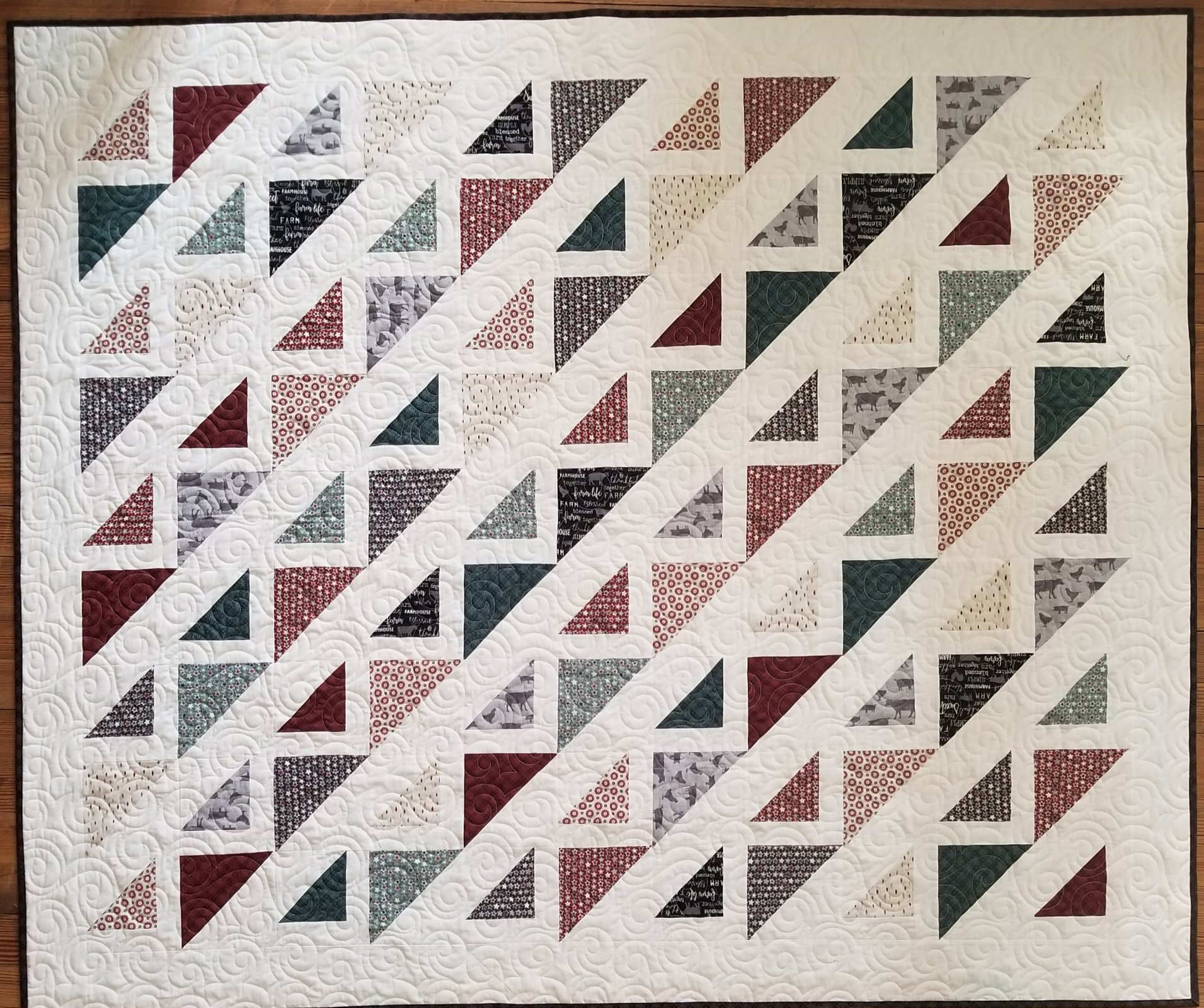 Farm Sweet Farm Corn Rows Quilt Kit