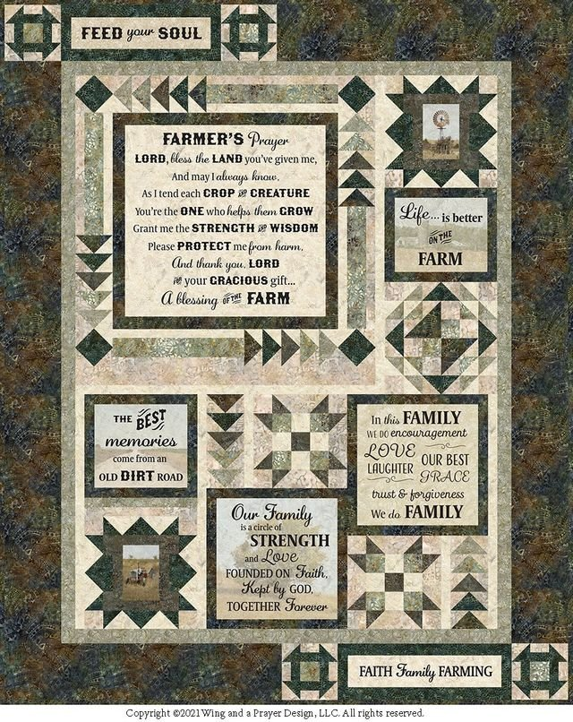 Farmer's Prayer by Wing and a Prayer Design Quilt Kit