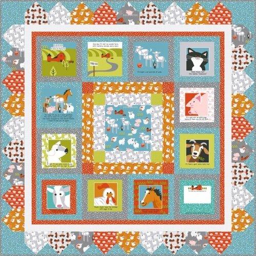 Farm Friends Book Panel FREE Quilt Pattern