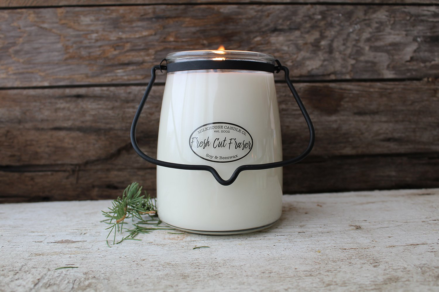 22oz Butter Jar Candle - Fresh Cut Frazer