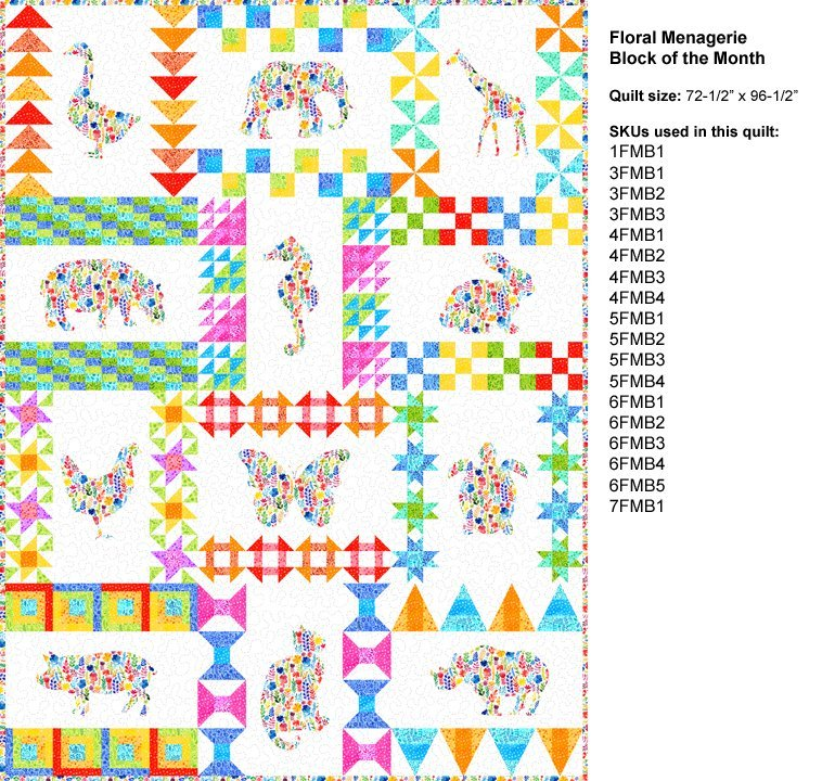 Floral Menagerie BOM Fabric kit