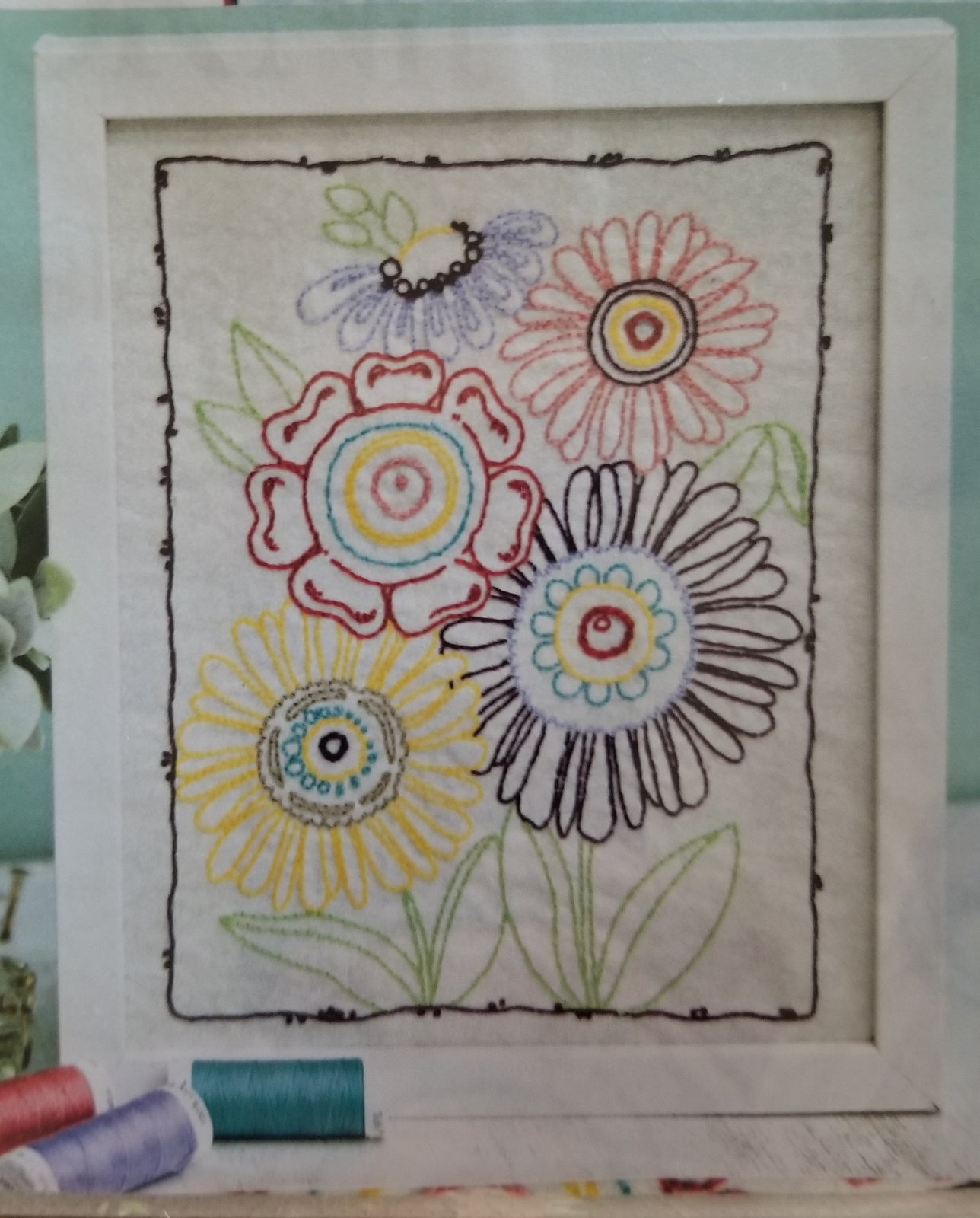 ADORNit Flower Garden Bloom Bouquet Stitchery