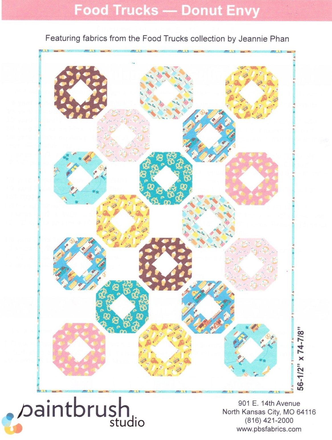 Food Trucks--Donut Envy FREE Quilt Pattern
