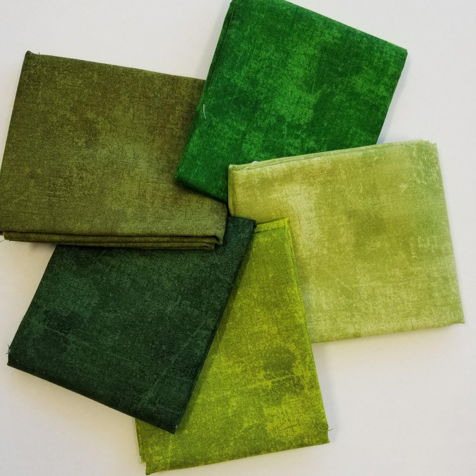 Canvas Green Bundle of 5 Fat Quarters