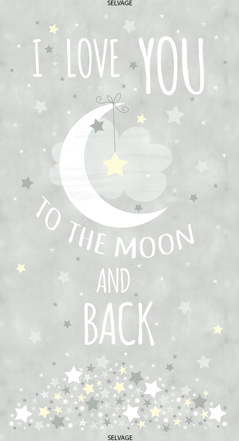 Moon and Stars To the Moon and Back Panel