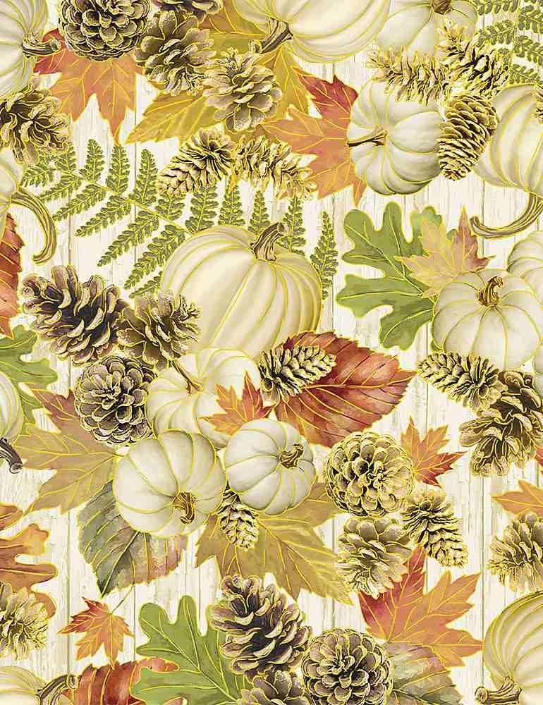 Autumn Symphony White Pumpkin Pinecone Bouquets