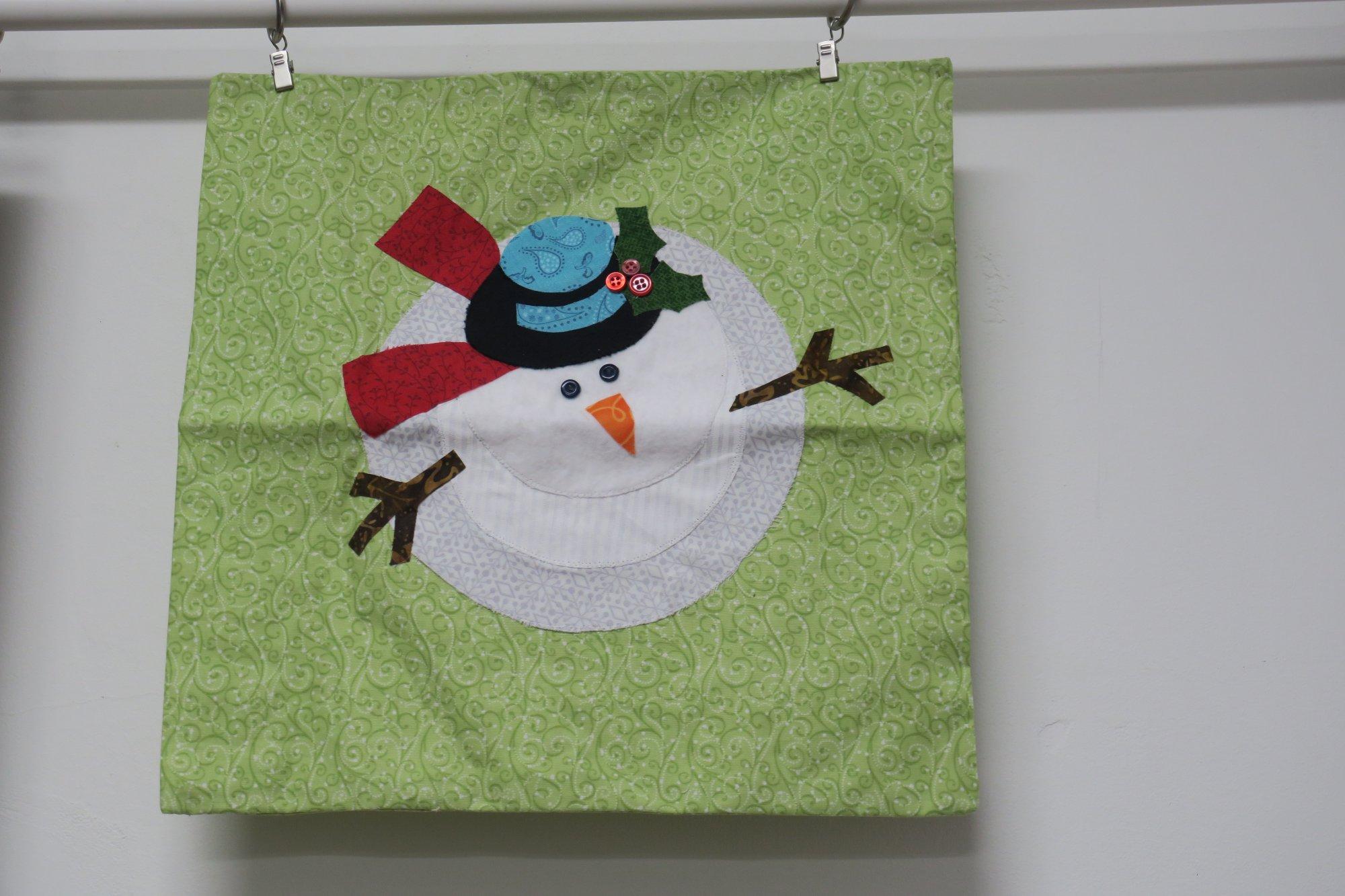 Merry Berry Snowman Pillow Case Store Sample