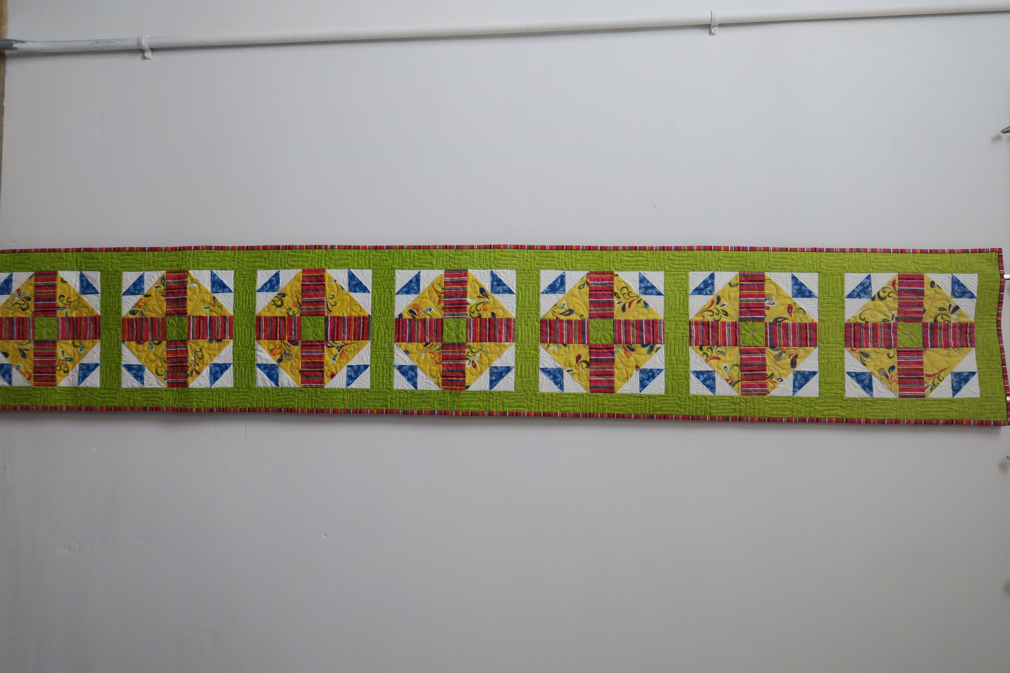 Hen & Chicks Studio Extra Long Table Runner Store Sample