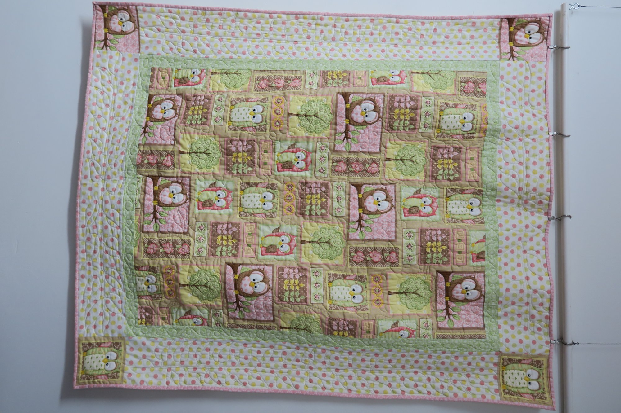 Owl Baby Quilt Store Sample