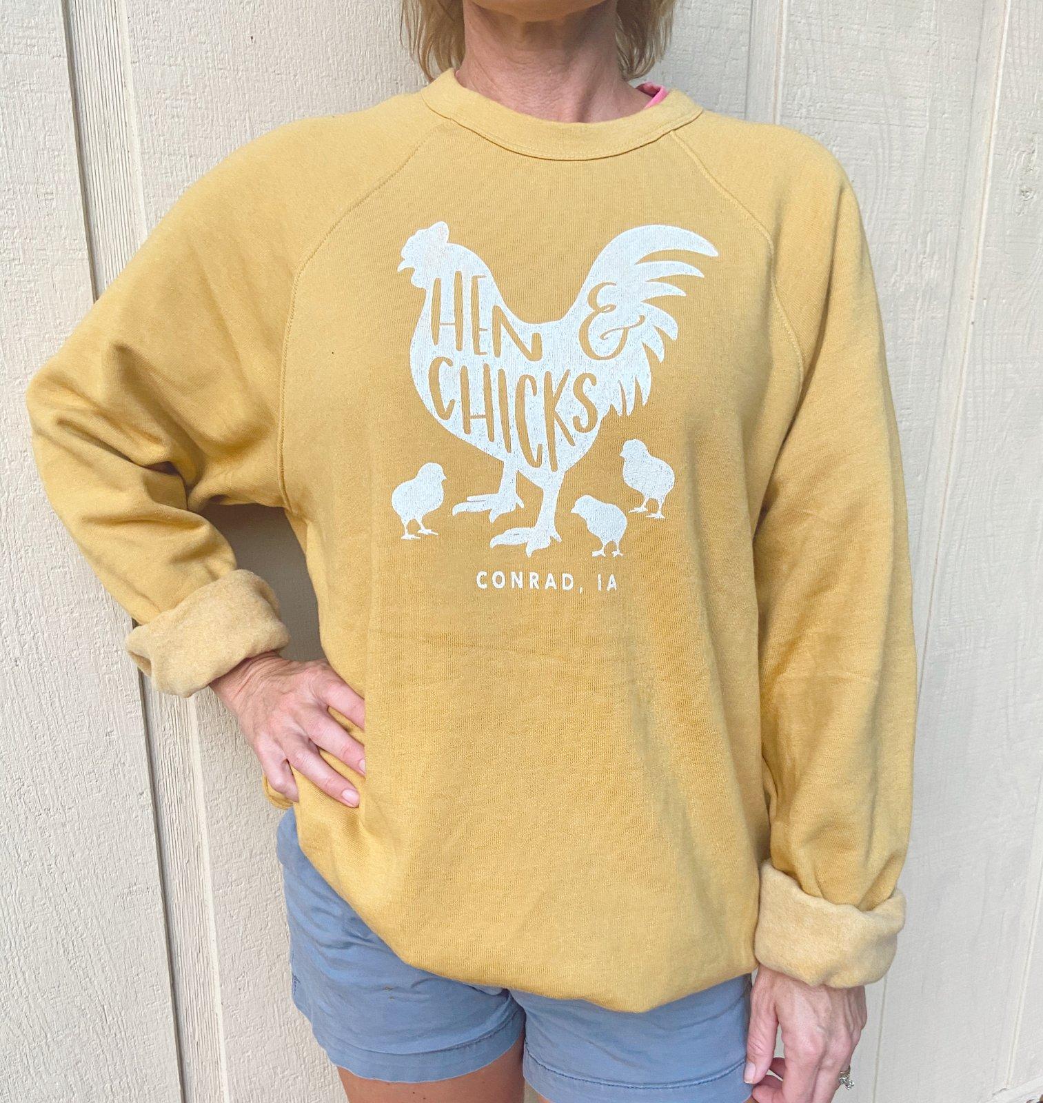 Long Sleeve: Ragland Sweatshirt Heather Mustard