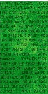 All Iowa Shop Hop 2019 Green Word Pattern