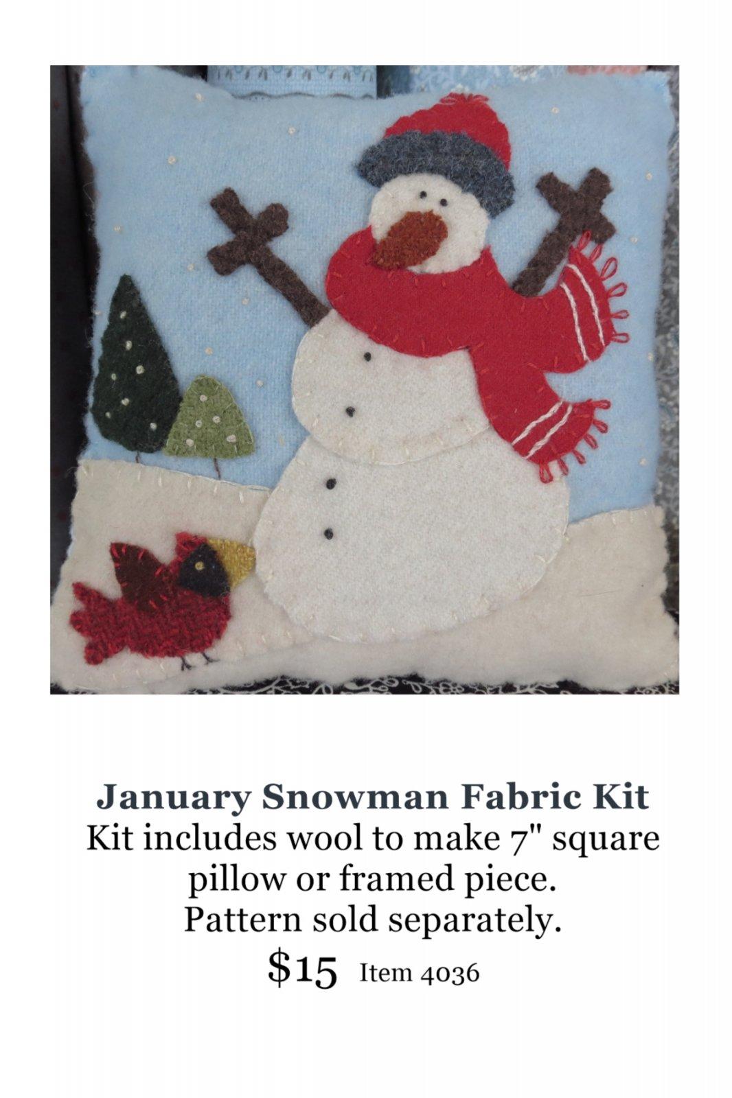 January Snowman Wool Kit