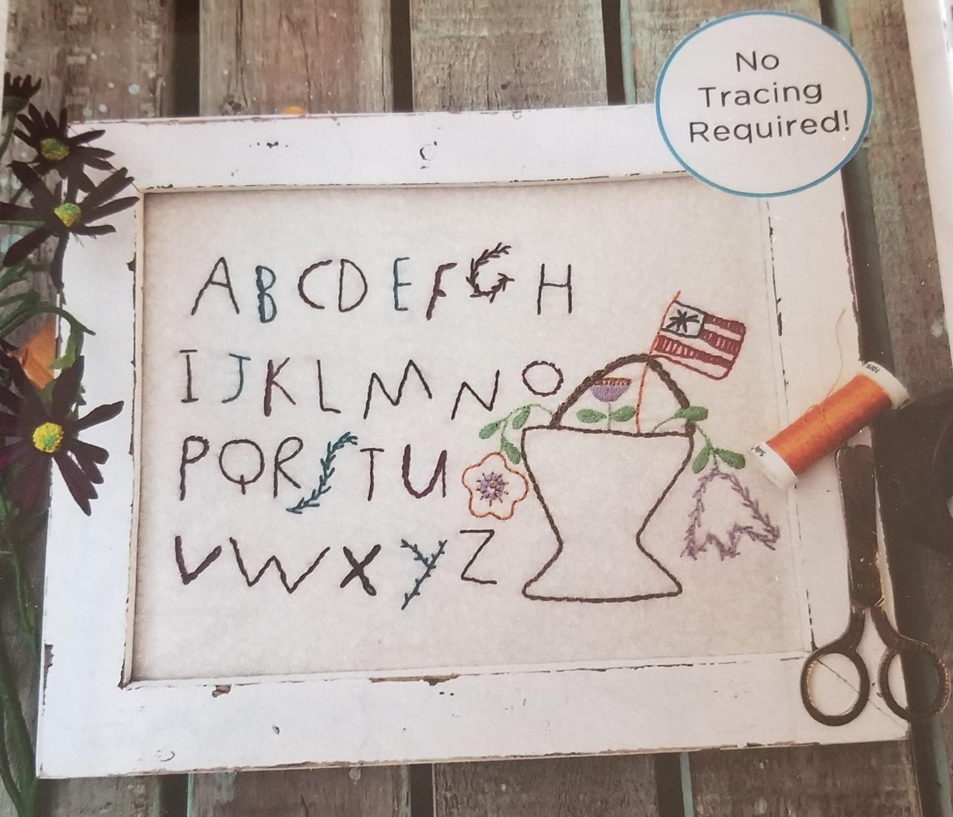 ADORNit Just Folksy Alphabet
